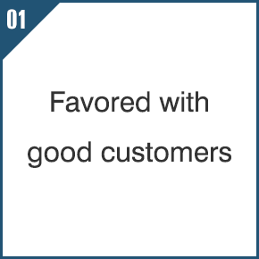 01 Favored with good customers